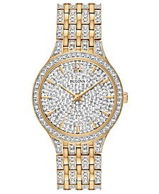 Women's Phantom Gold-Tone Crystal-Accent Stainless Steel Bracelet Watch 32mm