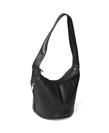 Royce Hobo Bag with Side Zip Pocket in Colombian Genuine Leather