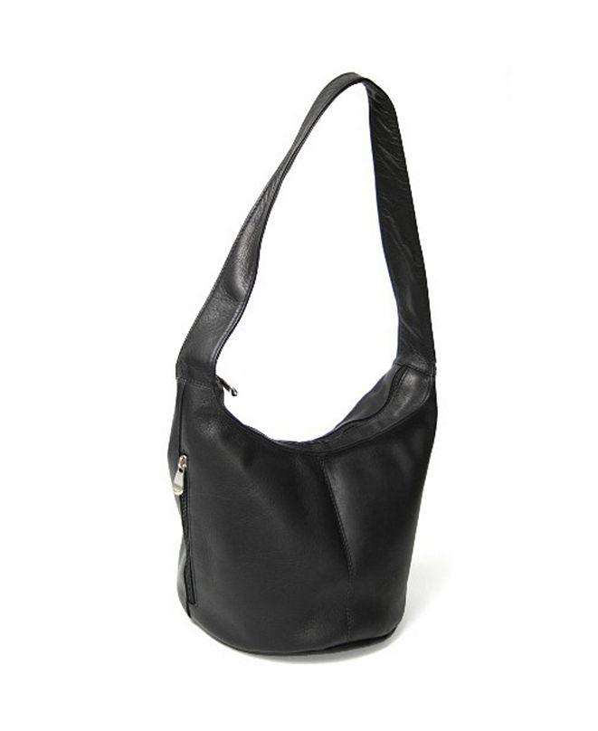 ROYCE New York Royce Hobo Bag with Side Zip Pocket in Colombian Genuine Leather