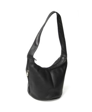 Image of Royce Hobo Bag with Side Zip Pocket in Colombian Genuine Leather