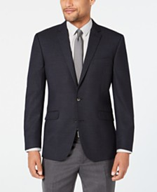 Kenneth Cole Reaction Men's Slim-Fit Stretch Dark Gray Dot Sport Coat