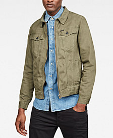 G-Star RAW Men's 3301 Slim-Fit Textured Denim Jacket, Created for Macy's