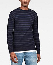 G-Star RAW Men's Dadin Straight-Fit Stripe Sweater