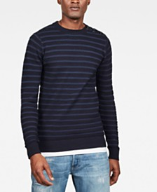 G-Star RAW Men's Dadin Straight-Fit Stripe Sweater