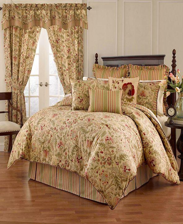 Savannah Home Imperial Dress 4-piece Queen Comforter Set