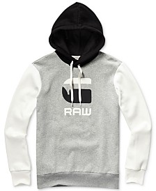 G-Star RAW Men's Graphic 19 Regular-Fit Colorblocked Logo Hoodie
