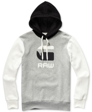 G-Star Raw Tops G-STAR RAW MEN'S GRAPHIC 19 REGULAR-FIT COLORBLOCKED LOGO HOODIE