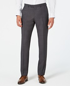 HUGO Men's Modern-Fit Dark Charcoal Suit Pants