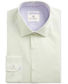 Con.Struct Mens Slim-Fit Performance Stretch Solid Dress Shirt