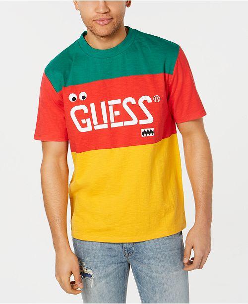 c1470f81 GUESS J Balvin X Men's Colorblocked Logo Graphic T-Shirt & Reviews ...