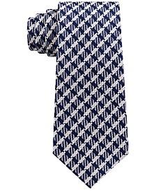 Sean John Men's Textured Gingham Grid Silk Tie