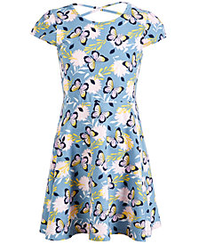 Epic Threads Super Soft Little Girls Butterfly-Print Fit & Flare Dress, Created for Macy's