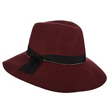 Wool Felt Fedora with Chain