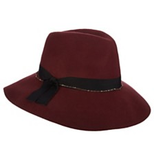 Scala Wool Felt Fedora with Chain