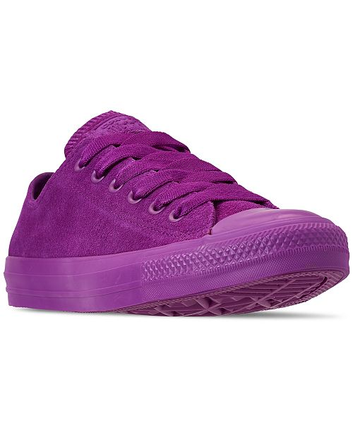 bad57cd030d9 ... Converse Unisex Chuck Taylor All Star Suede Mono Color Low Top Casual  Sneakers from Finish Line ...