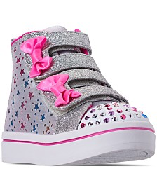 Skechers Toddler Girls' Twinkle Toes: Twi-Lites - Starry Dancer Adjustable Strap Light Up Casual Sneakers from Finish Line