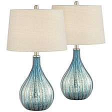 Blue and Grey North Glass Table Lamps - Set of 2