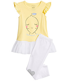 First Impressions Baby Girls Love with Lemon Top & Leggings Separates, Created for Macy's