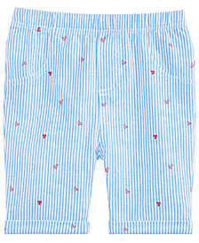 First Impressions Toddler Girls Railroad Heart Bermuda Shorts, Created for Macy's