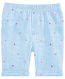 First Impressions Baby Girls Railroad Heart Bermuda Shorts, Created for Macy's