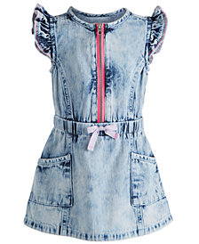 First Impressions Baby Girls Denim Dress, Created for Macy's
