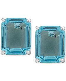 Lauren Ralph Lauren Silver-Tone Crystal Stud Earrings