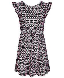 Epic Threads Super Soft Big Girls Geo-Print Fit & Flare Dress, Created for Macy's