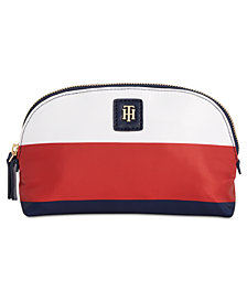 Tommy Hilfiger Julia Rugby Striped Cosmetic Case