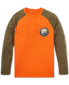Polo Ralph Lauren Big Boys Graphic Cotton Long-Sleeve T-Shirt