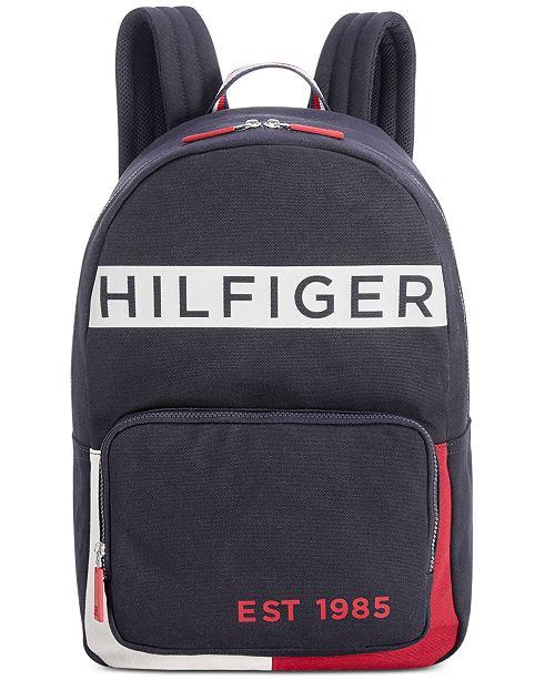 ec1de24b7 Tommy Hilfiger Men's Canvas Backpack; Tommy Hilfiger Men's Canvas Backpack  ...