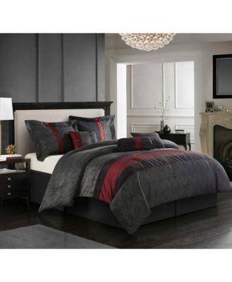 Corell Black 7-Piece Full Comforter Set