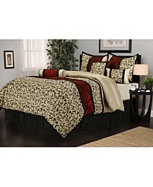 Bella 7-Piece Comforter Set, Beige, Full