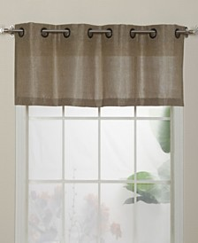 "Lancer Grommet Top Curtain Valance, Gold, 54 x 18"""