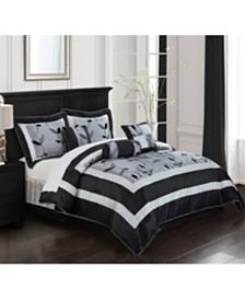 Pastora 7-Piece Comforter Set Silver, Silver, California King