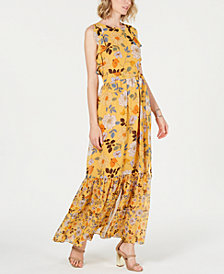 Vince Camuto Ruffled Flounce-Hem Maxi Dress