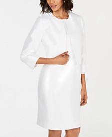 Kasper Embellished Collarless Jacket & Sheath Dress