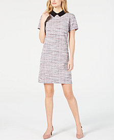 Maison Jules Metallic Bouclé Shift Dress, Created for Macy's
