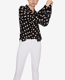 Sanctuary Sloane Printed Blouson-Sleeve Top