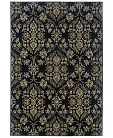 "CLOSEOUT!  Adrienne 3960G Midnight/Stone 7'10"" x 10'10"" Area Rug"