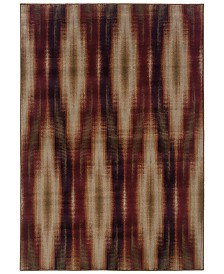 "CLOSEOUT! Oriental Weavers  Adrienne 4193B Stone/Red 1'10"" x 3'3"" Area Rug"