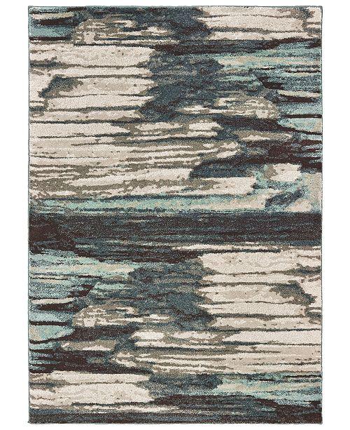 "Oriental Weavers Carson 9675A Blue/Ivory 3'10"" x 5'5"" Area Rug"