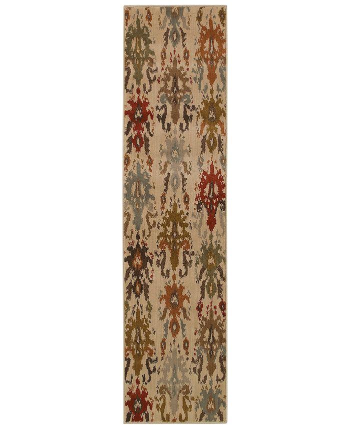 "Oriental Weavers - Casablanca 4437A Ivory/Multi 1'10"" x 7'6"" Runner Area Rug"