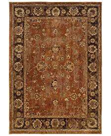 """CLOSEOUT! Oriental Weavers  Casablanca 4465E Orange/Mink 6'7"""" x 9'6"""" Area Rug"""