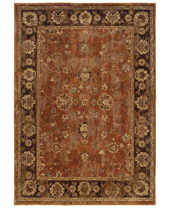 """Oriental Weavers - Casablanca 4465E Orange/Mink 7'10"""" x 10'10"""" Area Rug"""
