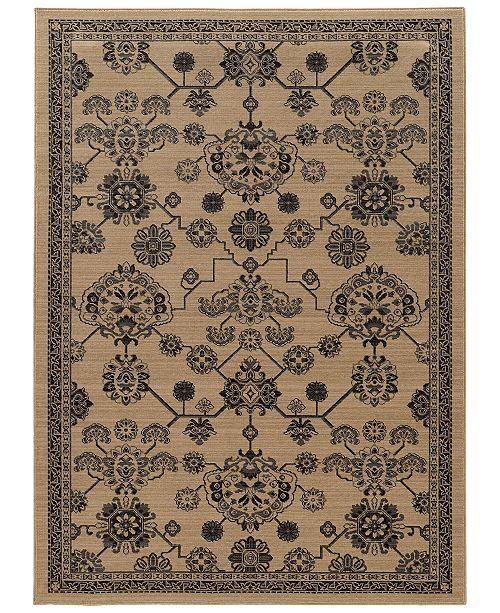 """Oriental Weavers Foundry 4923W Beige/Gray 1'10"""" x 3'3"""" Area Rug"""
