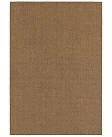"CLOSEOUT! Oriental Weavers  Santa Rosa 4927N Brown/Tan 3'3"" x 5' Indoor/Outdoor Area Rug"