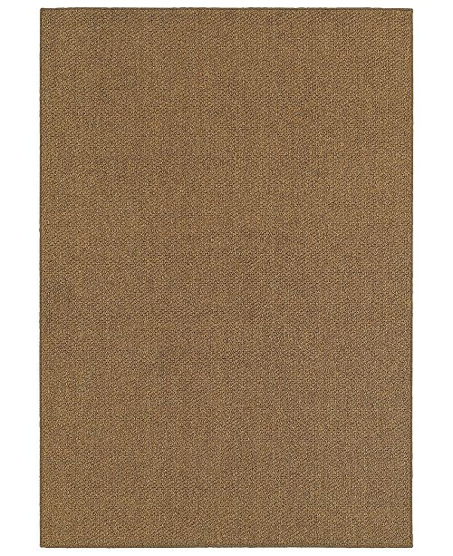 "Oriental Weavers CLOSEOUT!  Santa Rosa 4927N Brown/Tan 7'10"" x 10'10"" Indoor/Outdoor Area Rug"