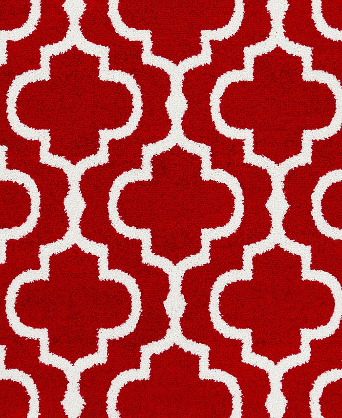 """Abbie & Allie Rugs - Seville SEV-2315 Bright Red 18"""" Square Swatch"""