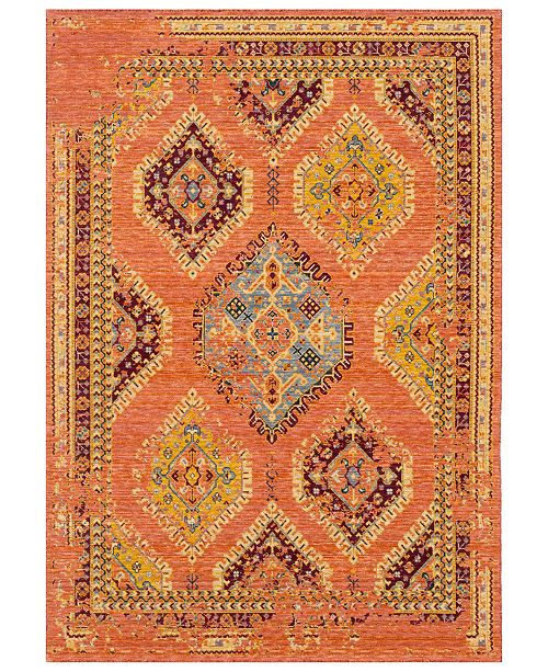 Surya Trailblazer TZR-1008 Bright Orange 8' x 11' Area Rug