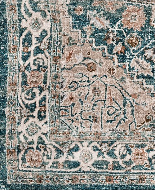 """Surya Soft Touch SFT-2301 Teal 18"""" Square Swatch"""
